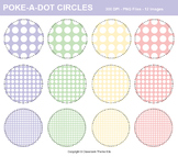 Poke-A-Dots on Circles Clip Art