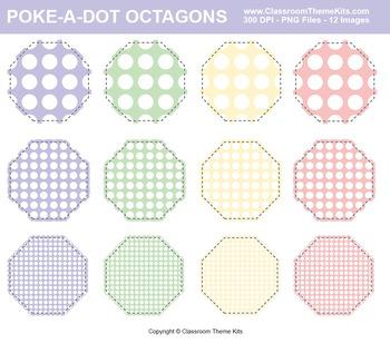 Poke-A-Dots on Octagons Clip Art