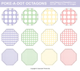 Poke-A-Dots on Octagons Clip Art