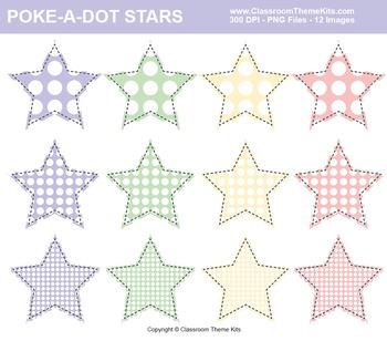 Poke-A-Dots on Stars Clip Art