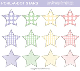 Poke-A-Dots on Stars Clip Art