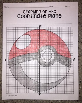 Poke Ball (Graphing on the Coordinate Plane/ Mystery Picture)