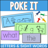 Poke It Alphabet and Sight Word Fine Motor Skills Activities