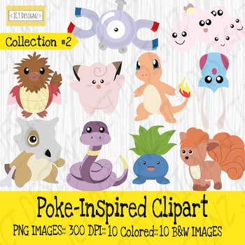 Poke-Inspired Clipart: The Bundle