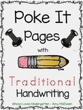 Poke It ABCs - Traditional Handwriting