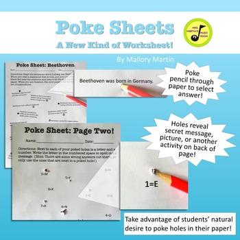 Poke Sheet: Beethoven (Poke Holes Through Your Paper...On