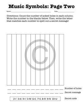 Poke Sheet: Music Symbols (Poke Holes Through Your Paper...On Purpose!)