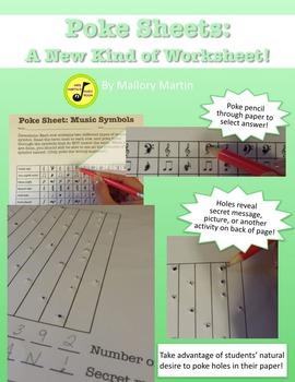 Poke Sheet: Music Symbols (Poke Holes Through Your Paper..