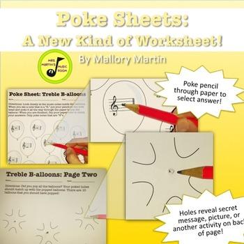 Poke Sheet: Treble B-alloons! (Poke Holes Through Your Paper...On Purpose!)