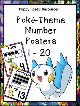 Poke-Themed Number Posters