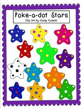 Poke-a-Dot Stars: Free Clip Art