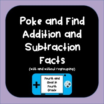 Poke and Find Addition and Subtraction Game (with and without regrouping)