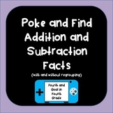 Poke and Find Addition and Subtraction Game (with and with