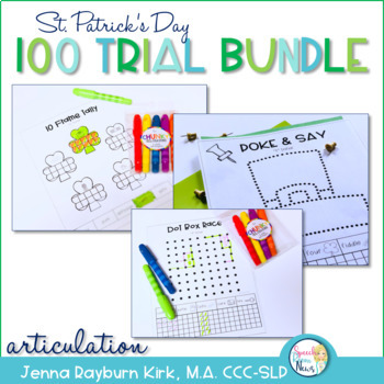 100 Trial Bundle: St. Patrick's Day Articulation