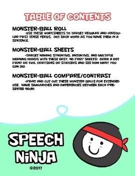 Poke'mon Language Worksheets - NO PREP!