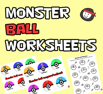 Poke'mon Language Worksheets - NO PREP!