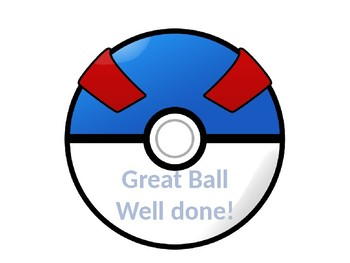 Pokeball Reward Chart