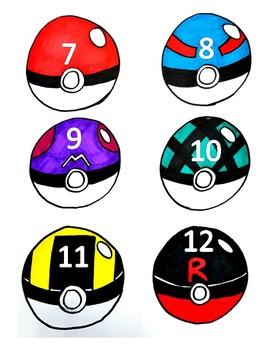 Pokeball seat numbers