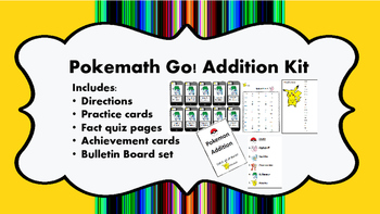 Pokemath Go! Addition Kit