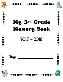 Pokemon 3rd Grade Memory Book cover