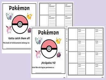 Pokémon Achievement Book - Brag Tags - Bilingual