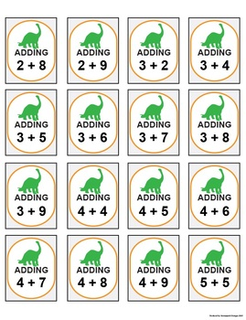 Adding and Subtracting Bingo Game (2 skills in one game)
