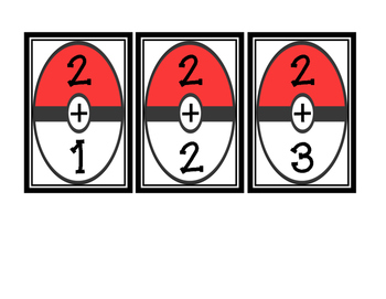 Pokemon Addition Flash Cards