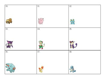 Pokemon Addition and Subtraction Task Cards