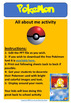 Pokemon Go All About Me Editable Activity (Back to School)
