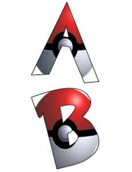 Pokemon Alphabet Letters (Pokeballs)