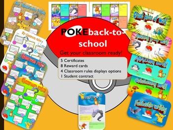 Pokemon Back-to-School displays certificates reward cards