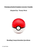 Pokémon Battle Frontier: Grovyle Trouble Reading Comprehension Questions