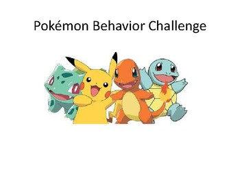 Pokemon Behavior Challenge