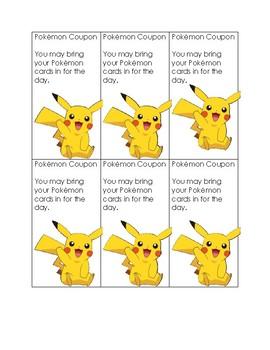 Pokemon Behavior Coupons