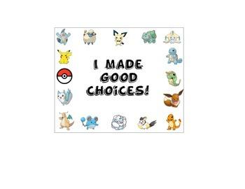 Pokemon Behavior Punch Card