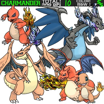 Pokemon clipart - Charmander
