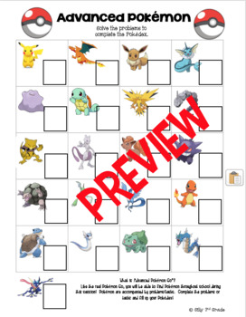 Pokémon Math Games, Crafts, and Activities for Camp or the Classroom