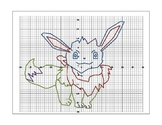 Pokemon Character Coordinate Graphing Picture and Graph Paper