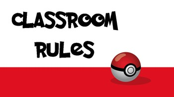 Pokemon Classroom Rules