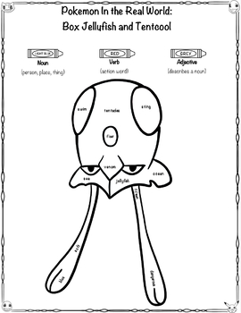 Pokémon Close Read and Worksheets/Activities: Box Jellyfish and Tentacool