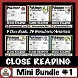 Pokémon Close Reading Passages and Comprehension Worksheets: Mini Bundle