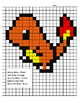 Pokemon Color By Note Charmander Evolution