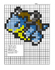 Pokemon Color By Note Squirtle Evolution