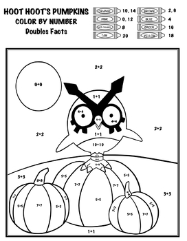 Pokémon Color By Number - Add, Subtract, Multiply, Divide - Hoot Hoot's Pumpkins