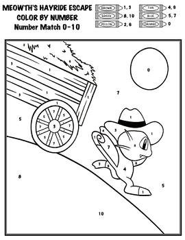 Pokémon Color By Number - Add, Subtract, Multiply, Divide - Meowth's Hayride