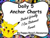 Pokemon Daily 5 Anchor Charts Bulletin Board Set