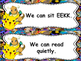 Pokemon Daily 5 Anchor Charts Bulletin Board Set