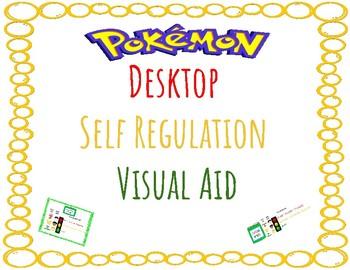 Pokemon Desktop Self Regulation Visual Aid - Zones of Regulation Companion