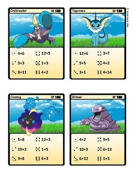 Pokemon Dice Math - Addition Math Facts