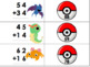 Pokemon Double Digit Addition and Subtraction without Regrouping Matching Game